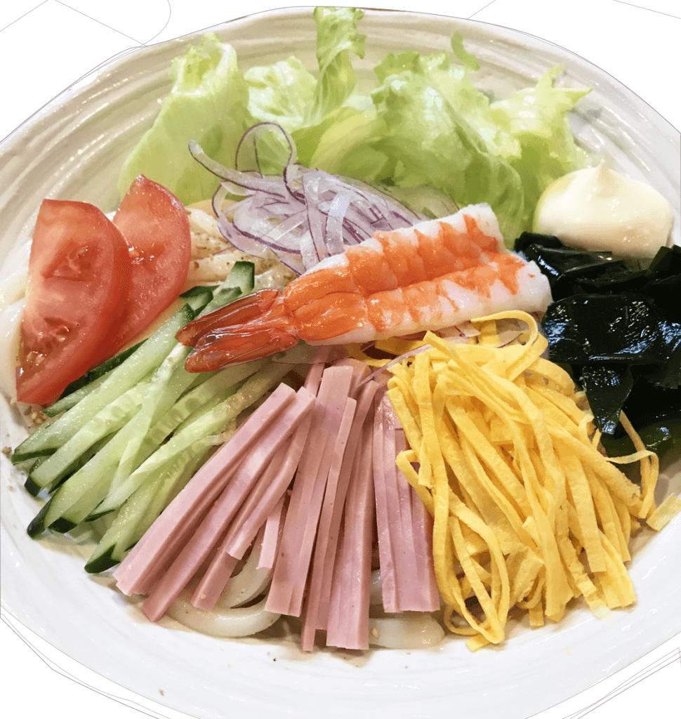 サラダうどん(三重県津市冨士屋)